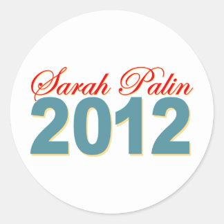 Sarah Palin President 2012 Classic Round Sticker