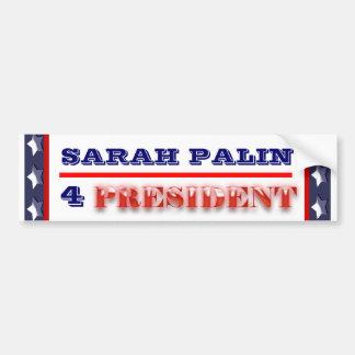 Sarah Palin president 2012 CUSTOMIZE Bumper Sticker