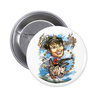 Sarah Palin, Queen of Pork 6 Cm Round Badge
