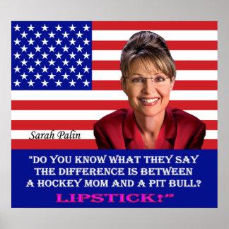 Sarah Palin Quote - Lipstick Print