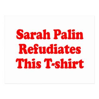 Sarah Palin Refudiates this T-shirt Postcard