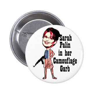 Sarah Palin's Camouflage 6 Cm Round Badge