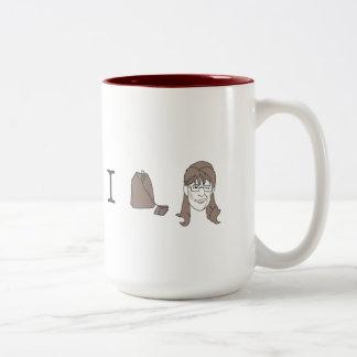 Sarah Palin Tea Two-Tone Mug