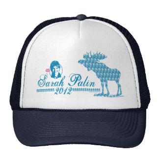 Sarah Palin with Moose Art Mesh Hats