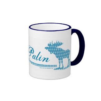 Sarah Palin with Moose Art Coffee Mugs