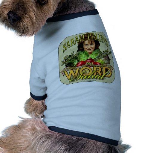 Sarah Palin's WORD Salad Doggie Tshirt