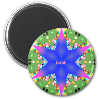 SARAH ~ Personalized Easter Star Fractal ~ Magnet