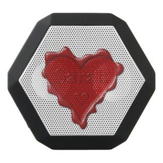 Sarah. Red heart wax seal with name Sarah Black Bluetooth Speaker