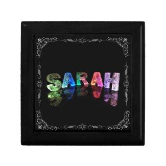 Sarah - The Name Sarah in 3D Lights (Photograph) Jewelry Boxes