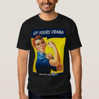 Sarah the Riveter, Up Yours Obama, - Customized T-Shirt