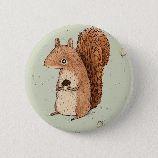 Sarah the Squirrel 6 Cm Round Badge