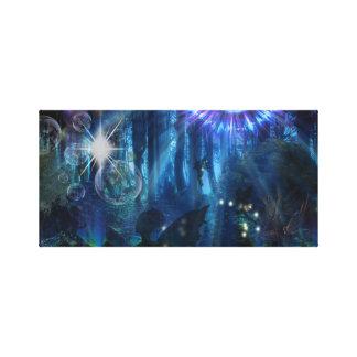 "Sarah W Fox Digital Art ""Fairy Forest"" Canvas Print"