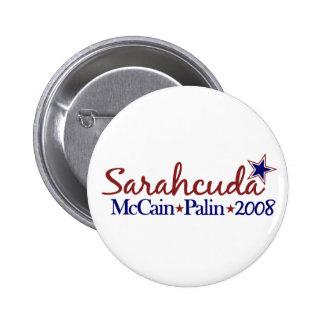 Sarahcuda (McCain Palin 2008) 6 Cm Round Badge