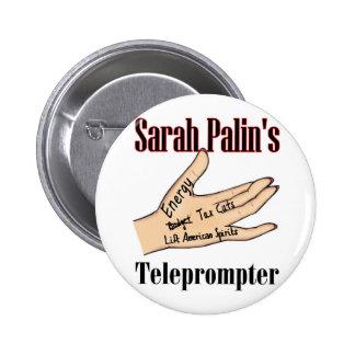 sarahs teleprompter 6 cm round badge