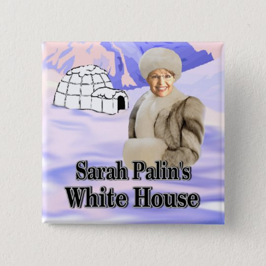 sarahs white house 15 cm square badge
