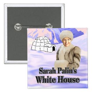 sarahs white house 15 cm square badge