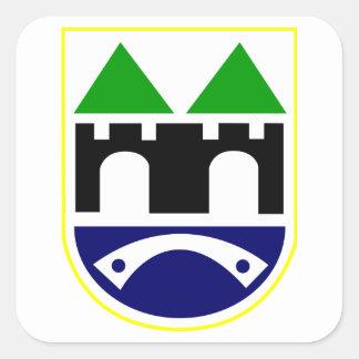 Sarajevo Coat of Arms Square Stickers