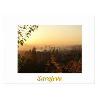 Sarajevo in the morning postcard