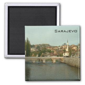 Sarajevo - Latin Bridge Square Magnet