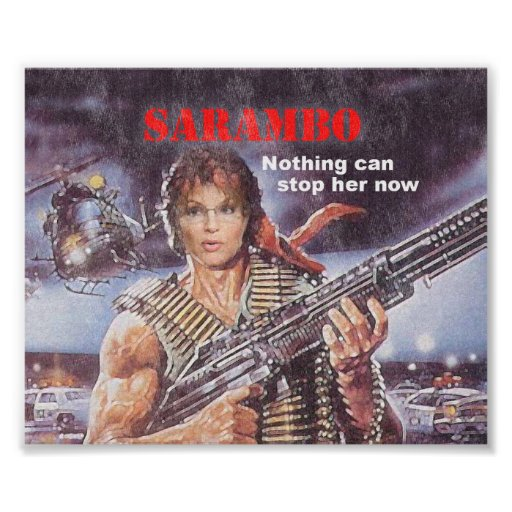 SARAMBO - Nothing Can Stop Her Print