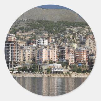 Sarande town in Albania Classic Round Sticker