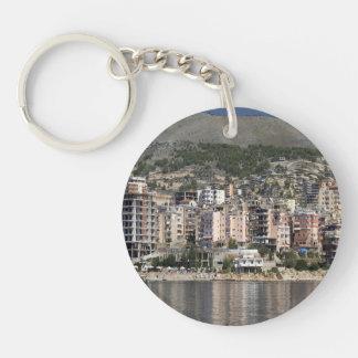 Sarande town in Albania Key Ring