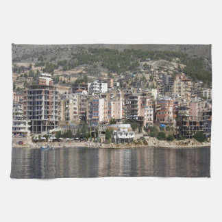 Sarande town in Albania Tea Towel