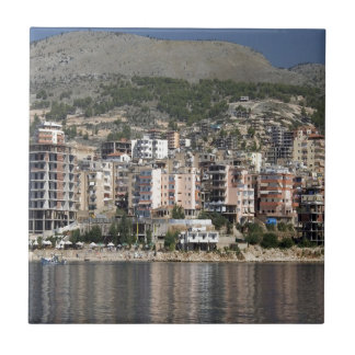 Sarande town in Albania Tile