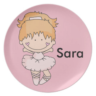 Sara's Personalized Ballet Plate
