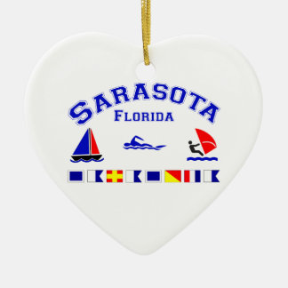 Sarasota FL Signal Flags Christmas Ornament