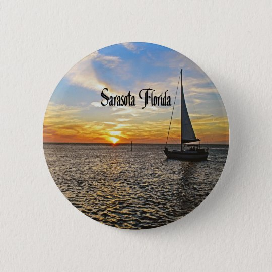 Sarasota Florida 6 Cm Round Badge