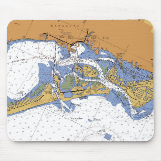 Sarasota, Florida Nautical Harbor Chart Mousepad
