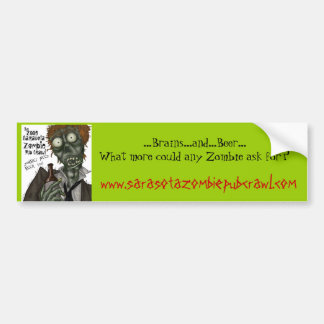 Sarasota Zombie Pub Crawl Bumper Sticker