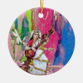 Saraswati Christmas Ornament