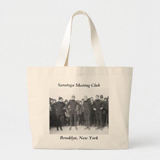 Saratoga Skating Club, early 1900s Canvas Bag