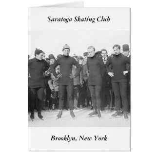 Saratoga Skating Club, early 1900s Greeting Card