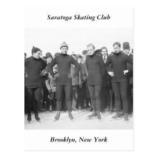 Saratoga Skating Club, early 1900s Postcard