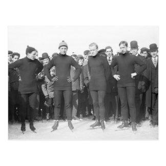 Saratoga Skating Club, early 1900s Postcard