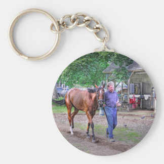 "Saratoga Stables ""Horse Haven"" Key Chain"