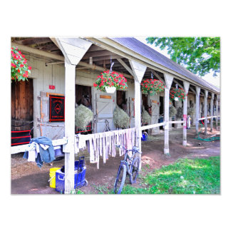"Saratoga Stables ""Horse Haven"" Art Photo"