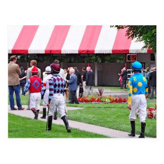 Saratoga's Top Jockeys heading to the Paddock Postcards