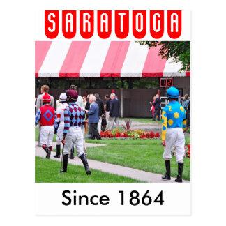 Saratoga's Top Jockeys heading to the Paddock Post Cards
