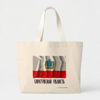 Saratov Oblast Flag Tote Bags