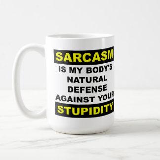 Sarcasm Stupidity Defence Funny Mug