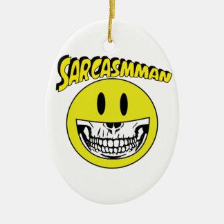 Sarcasmman Christmas Ornament