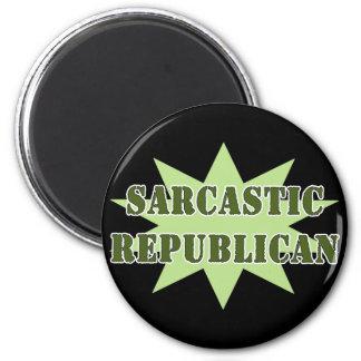 Sarcastic Republican 6 Cm Round Magnet