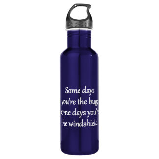 Sarcastic Zen Phrase - The Bug And The Windshield 710 Ml Water Bottle
