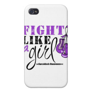 Sarcoidosis Awareness Fight Like a Girl iPhone 4 Cases