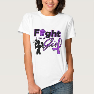 Sarcoidosis Fight Like A Girl Silhouette Tee Shirt