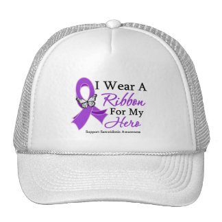 Sarcoidosis I Wear a Ribbon For My Hero Trucker Hat